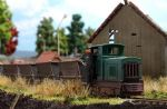 Busch 12001 OO Narrow Gauge Train Set With Peat Wagons